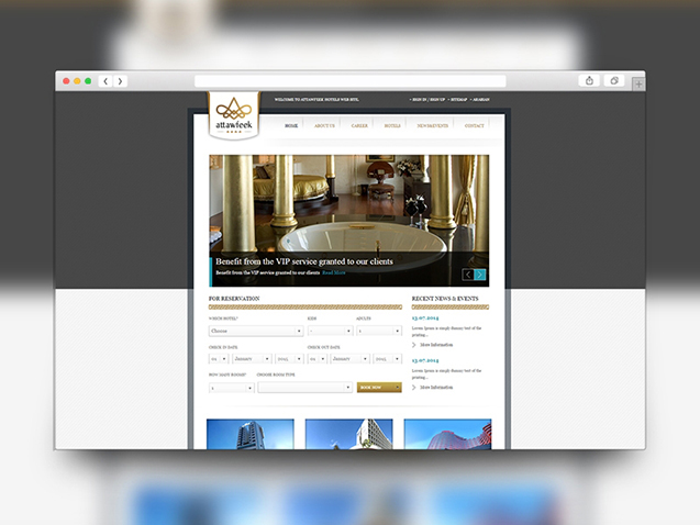 Attawfeek Hotels Web Site Design and Software